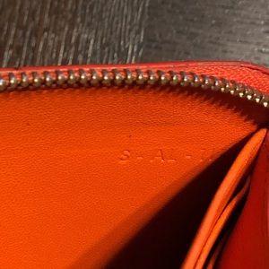 Celine Bags - AUTHENTIC Céline Orange Red Bicolor Cont. Wallet